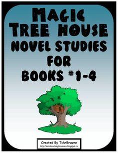#1-4 Magic Tree House Book  Novel Study Units $