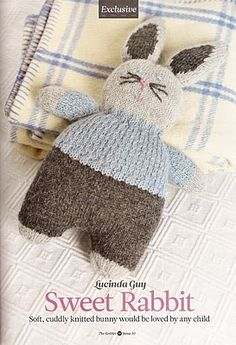 Knitted bunny - free pattern