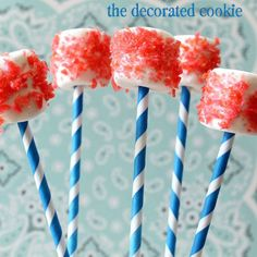 Poppin' Rockin' Marshmallow Pops ~ Fun for the 4th of July