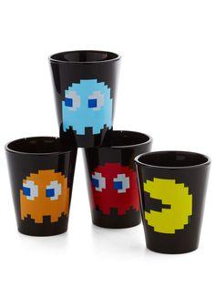 Pac Man shot glass set