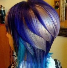 Peacock hair color