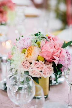 Pinks, corals and peaches   Photography: I Love You Too Weddings - www.iloveyoutooweddings.com  Read More: http://www.stylemepretty.com/2014/06/02/modern-art-museum-wedding/