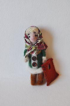 Babka Felted Woolen  Sculpture by vusova on Etsy, $45.00