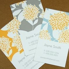 Floral Calling Card.