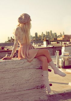 i want to wander around in nothing but lace and flowy skirts and comfy socks.