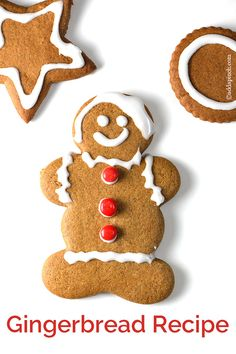 Gingerbread cookies are a favorite Christmas cookie recipe and this gingerbread will become a favorite with a few special additions. Makes 36 gingerbread cookies