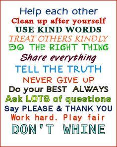 Rules ;)