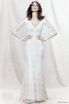 phase eight 2013 bridal evelyn long sleeve beaded lace wedding dress