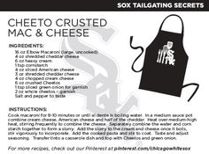 @Chicago White Sox Cheeto Crusted Mac and Cheese recipe