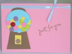 Girls Birthday Card Gumball Machine Birthday by CardsbyJeweleighaB, $4.00