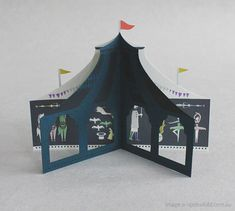 pop up card, circus
