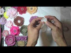 Needle point fabric flowers tutorial (+playlist)