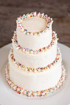 Tiered Sprinkle Cake
