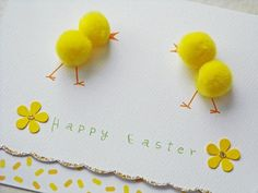 Fluffy Chicks Easter Cards