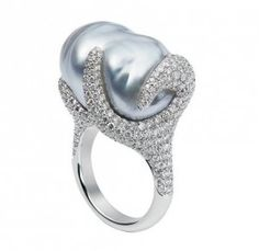 Mikimoto blue pearl ring