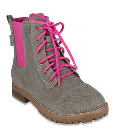 Gray & Pink L'Vivid Ankle Boot by Sugar Brand #zulily #zulilyfinds