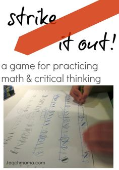 Strike it Out: A fun, sneaky #math game for working math skills and thinking | teachmama.com