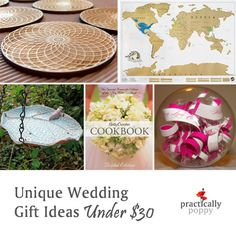 It's wedding season!  These are great wedding gift ideas that won't break the bank.
