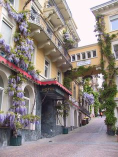 The streets of Baden-Baden, a famous spa town in southwestern Germany