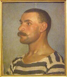Dominik Skutecký, Study of a Shipyard Worker (Head of Gondolier), 1903