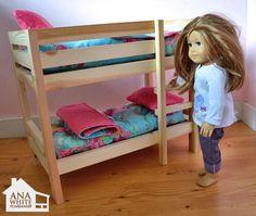 doll beds, diy doll bunk bed, diy american girl bed, american girl bunk bed, american girl beds, american girl doll bunk beds, american girl homemade crafts, american doll crafts, american girls