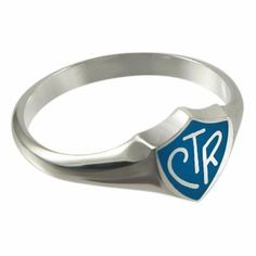 LDS Unisex 0.925 Sterling Silver Blue Regular CTR Choose the Right Ring - LDS Rings, Mens CTR Ring, Womens CTR Ring, Boys CTR Ring, Girls CTR Ring Ringmasters. $24.99