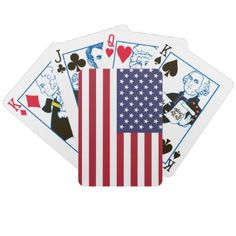 American Flag Playing Cards by WearFlags