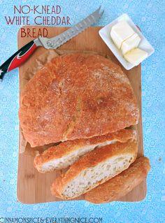 No-Knead Overnight White Cheddar Bread
