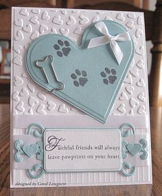 very sweet sympathy card for loss of dog (love this!) perfect sentiment for the situation
