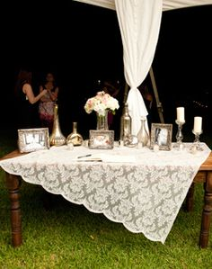 guest book table; could also be a nice memory table