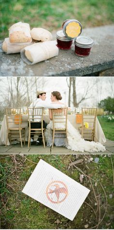 Wedding shoot inspired by The Hunger Games. I kinda love it!