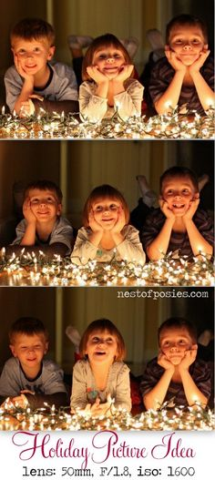 Capturing Memorable Holiday Photos with Kids at Night via Nest of Posies  50 mm lens, ISO set @: 1600, f/1.8