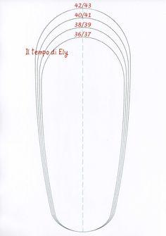 Il tempo di Ely: Cartamodello ciabatte