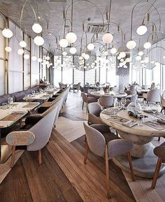 The glamorous and exciting restaurant interior decor ideas. Discover out the entire collection of luxury lighting and find the perfect lamp for your restaurant interior design project at luxxu.net #luxury #restaurantdesign #interiordesign #interiordesignideas #restaurantfurniture #restaurantdesign