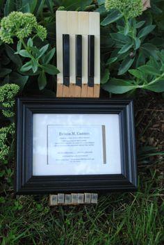 Piano key frame holder