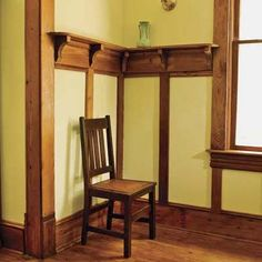 Craftsman arts crafts mission on pinterest gustav for Arts and crafts wainscoting