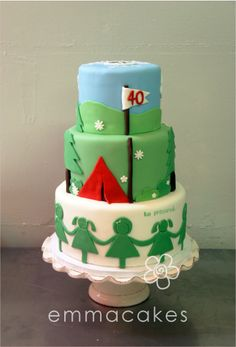 Camping & Girl Scouts for Jen's 40th by emmacakes, via Flickr