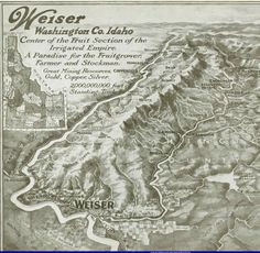 Weiser, Idaho - Map