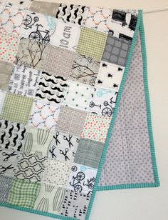 low quilts volume, modern baby, color low, fabric patterns, babi quilt, color schemes, baby quilts, baby boy quilts, color pallets