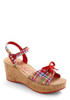 Boardwalk Arcade Wedge - Super cute summer shoes