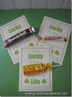 St. Patrick's Day Candy Gram Printable