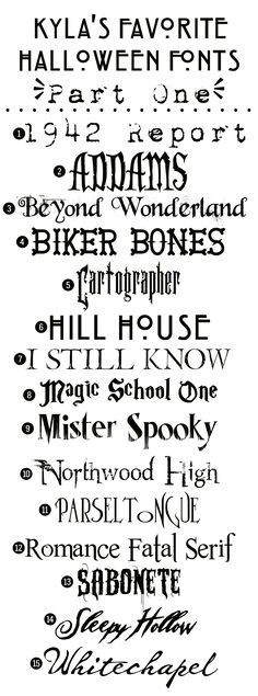 Free Halloween Fonts: {Part One}