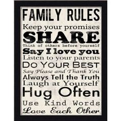 Family Rules...for sure!