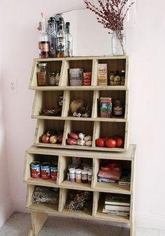 chicken coups for kitchen storage.