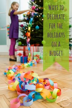 Super cute ideas!  {Lots of Festive Ways to} Decorate for the Holidays on a Budget