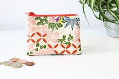 Zippered pouch, japanese style.