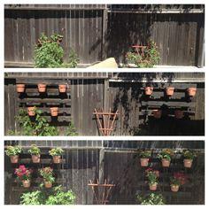 Pallet fence planters