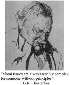 G.K. Chesterton on Morals #quotes