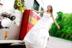 Firefighter Wedding Photo