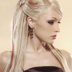 Hair Half up-do with straight hair